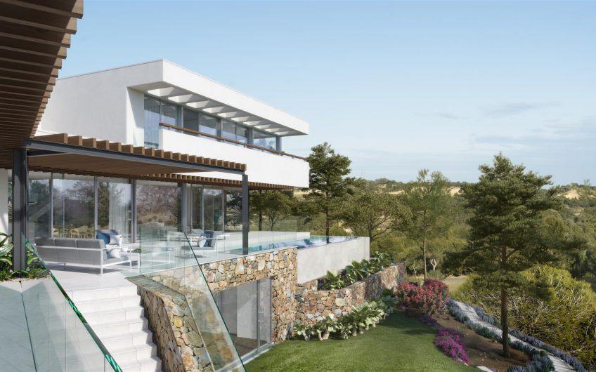 Villa de lujo y diseño en campo de Golf