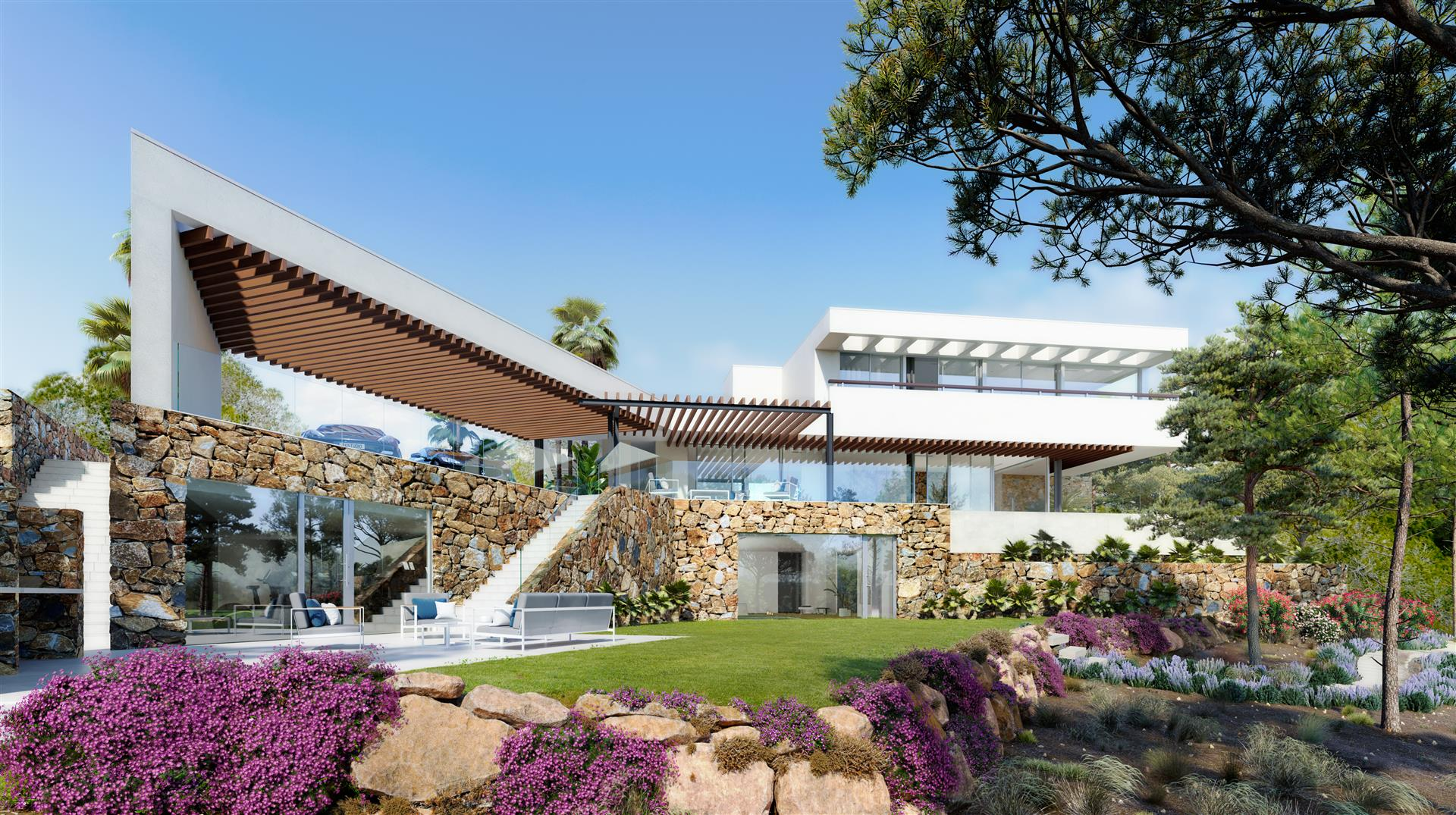 Luxury villa and modern design in Golf course
