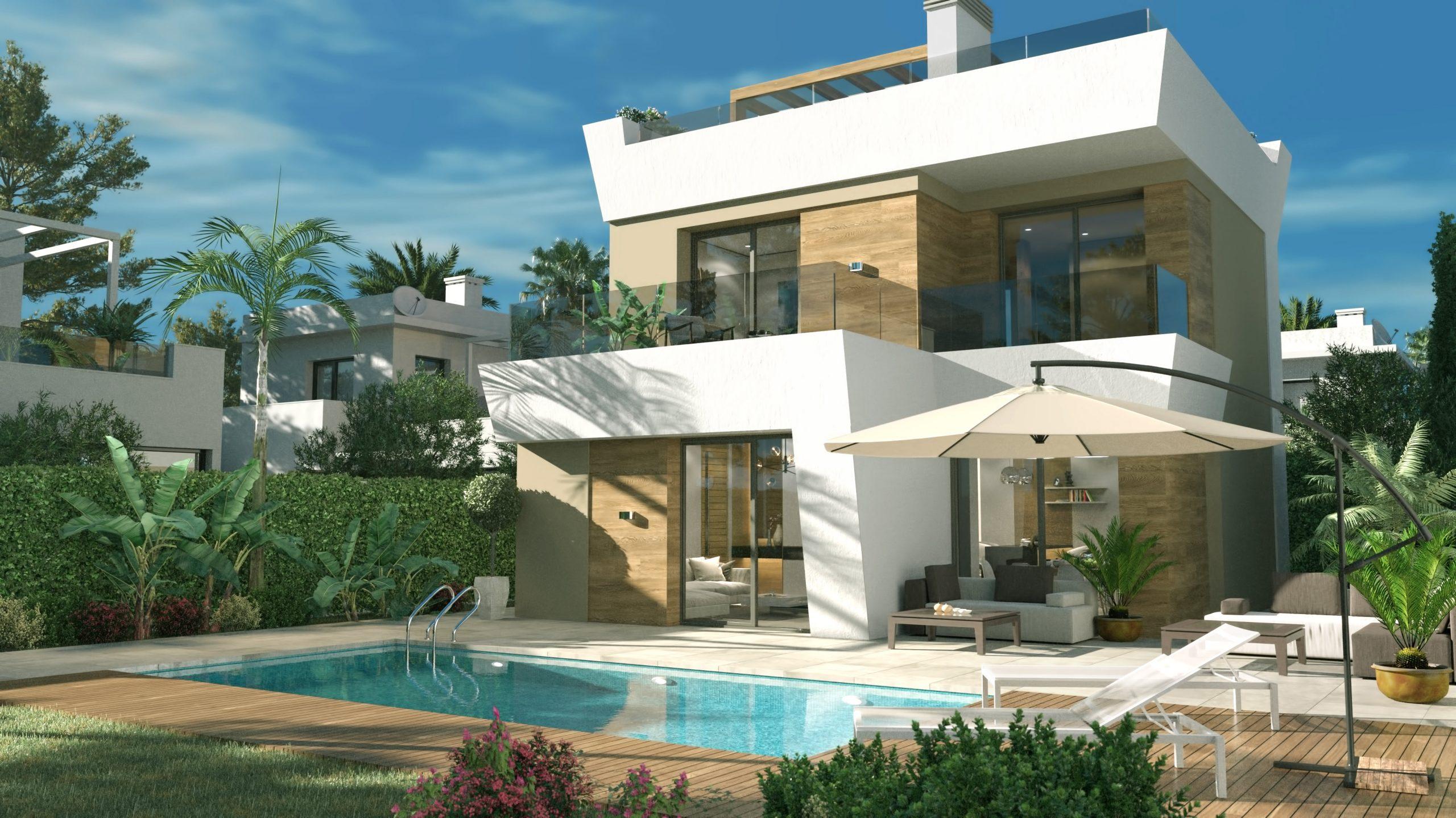 Chalet independiente con piscina privada y vistas panorámicas en Ciudad Quesada